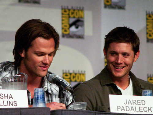 Jared Padalecki and Jensen Ackles at a fan convention